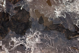 Close-up Of Ice, Snow And Water