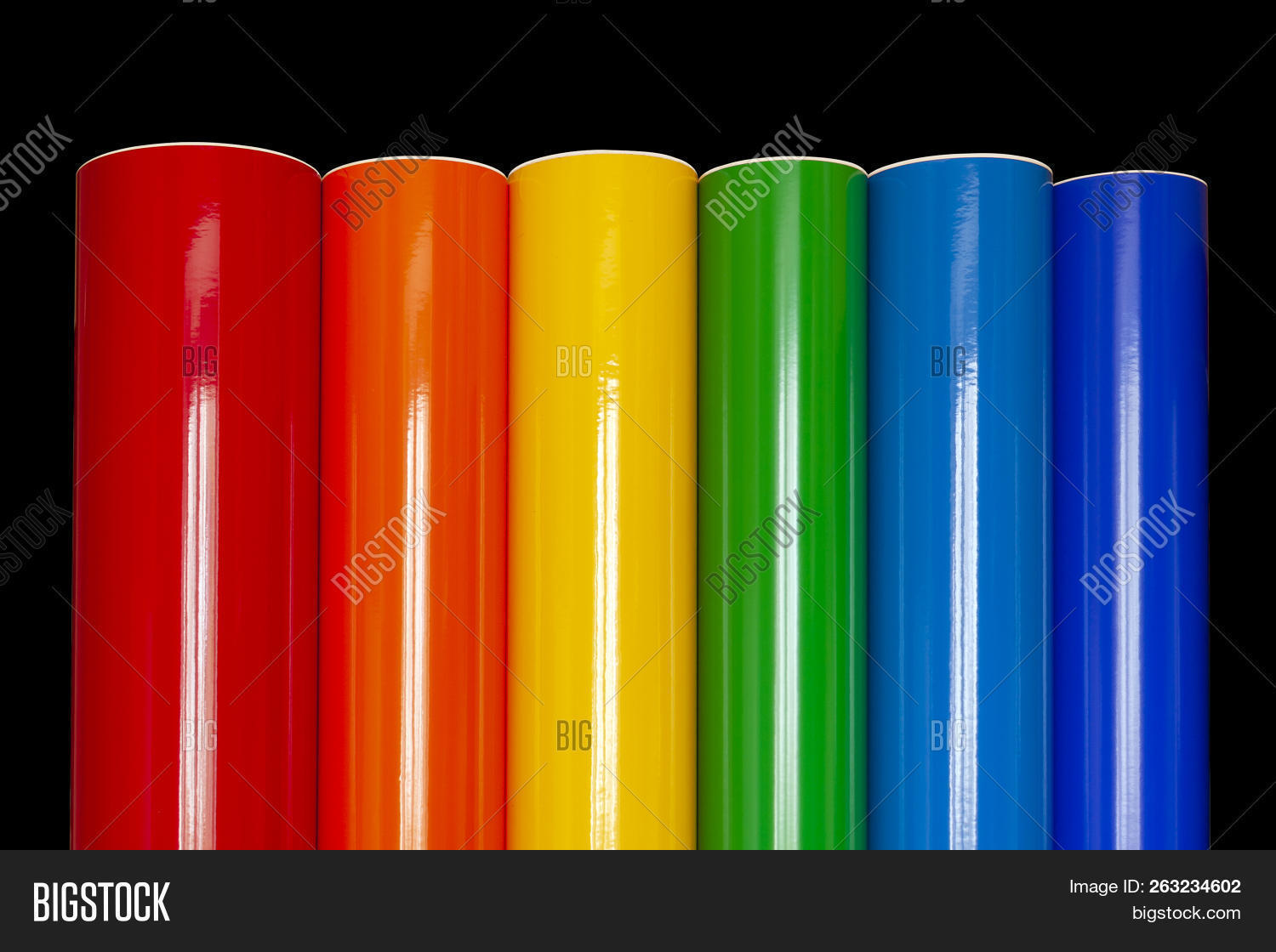 rolls colored vinyl image photo free trial bigstock