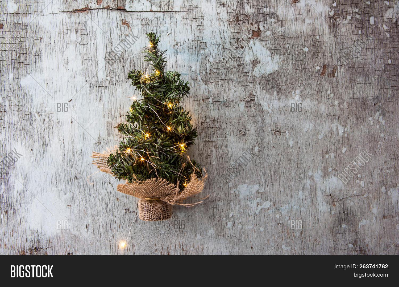 Christmas Tree Top View.Christmas Tree On Old Image Photo Free Trial Bigstock