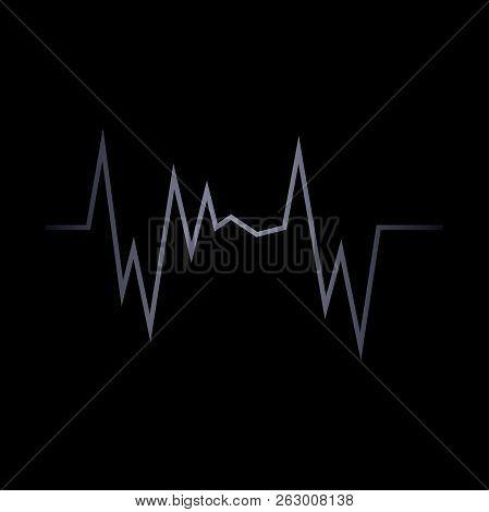 Vector Pulse Icon. Heart Pulse Cardiac. Vector Illustration