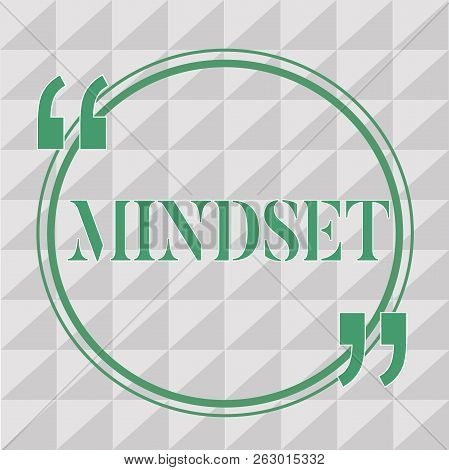 Text Sign Showing Mindset. Conceptual Photo Established Set Of Attitudes Held By Someone Positive At