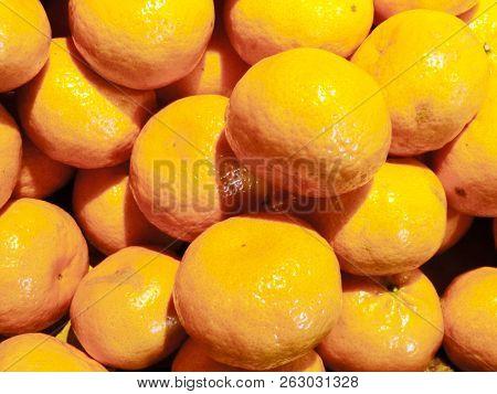 Fresh Tangerines, Citrus Aurantium, Alimentation, Citrus, Fruit
