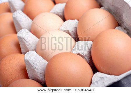 eggs in an egg box