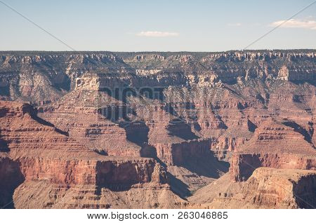 Grand Canyon National Park North Rim Magnificent Landscape, Arizona, United States. The View Of The