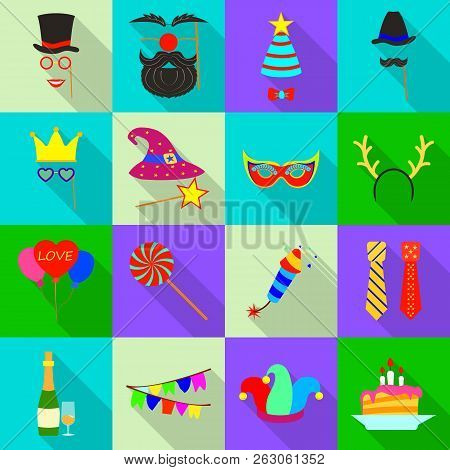Vector Design Of Party And Birthday Logo. Collection Of Party And Celebration Vector Icon For Stock.