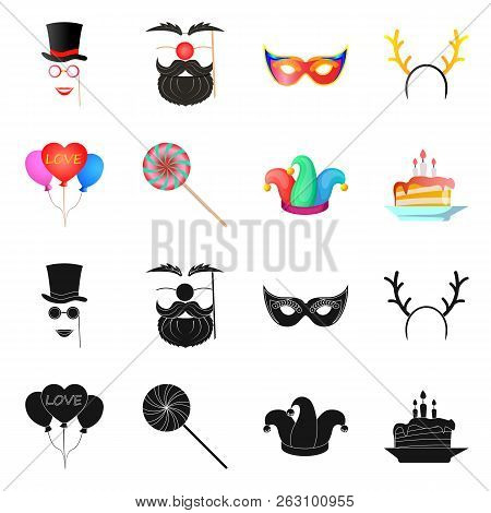 Vector Design Of Party And Birthday Icon. Set Of Party And Celebration Stock Vector Illustration.