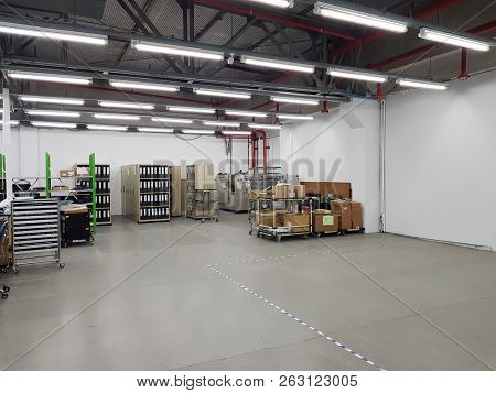 Warehouses With Pallets And Some Storage. Old Warehouses Also Have Storage Facilities.