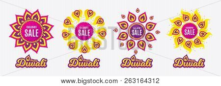 Diwali Sales Banners. Exclusive Sale. Special Offer Price Sign. Advertising Discounts Symbol. Diwali