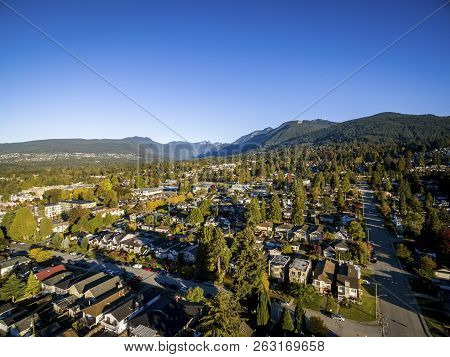 North Shore Aerial Image - North And West Vancouver And Coast Mountains