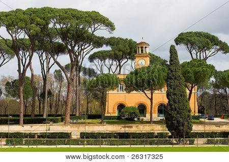 Villa borghese, Casina dell'orologio, park in Rome,Italy poster