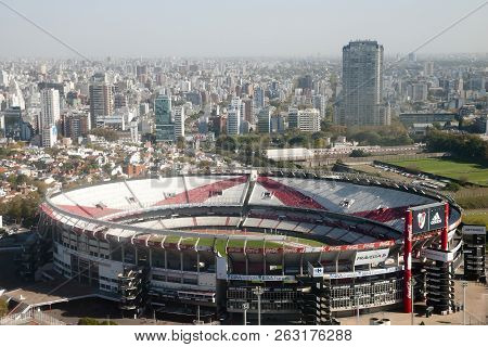 Buenos Aires, Argentina - May 5, 2015: River Plate Football Team Stadium Also Known As Antonio Vespu