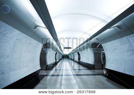 moderne u-Bahnstation Megdunarodnaya. Moskau. Russland.