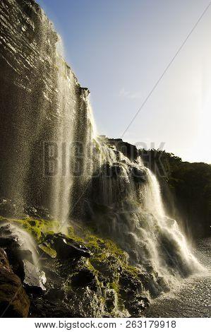 Waterfall Of Hacha In Canaima - Venezuela