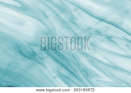 Marble Ink Colorful. Blue Marble Pattern Texture Abstract Background. Can Be Used For Background Or