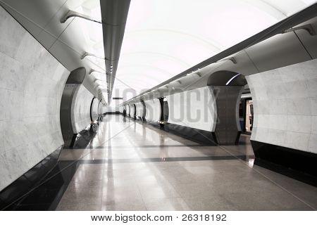 moderne u-Bahn Bahnhof Megdunarodnaya. Moskau. Russland.