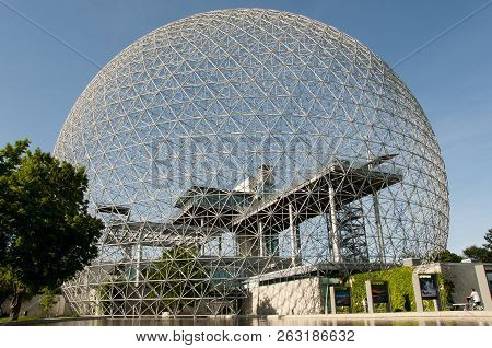 Montreal, Canada - May 29, 2015:  The Biosphere Is A Museum Dedicated To The Environment Built For T