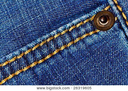 Jeans Hintergrund mit Naht