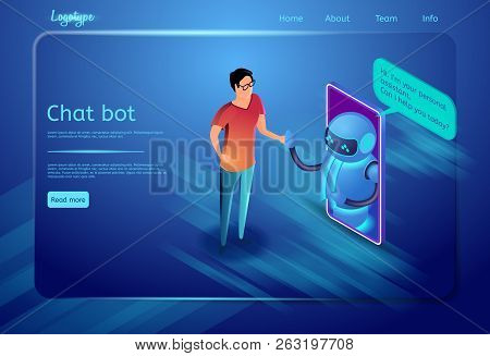 Chat Bot And Communication System. Robot Assistant Concept. Bot Virtual Assistance. Human, Digital T