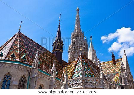 Matthias Church at Buda Castle in Budapest, Hungary