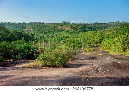 Landscape Of A Mountain Hill At Daytime. Landscape Of A Mountain Hill At Daytime. Mountain Landscape