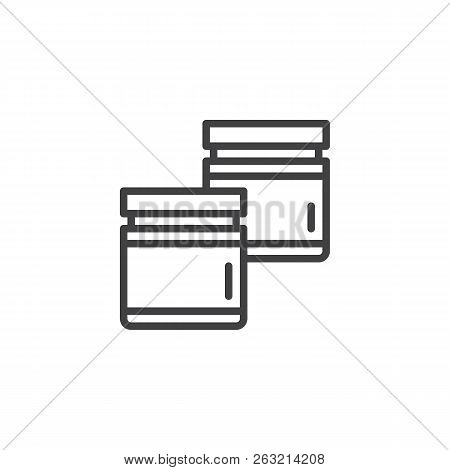 Evidence Container Outline Icon. Linear Style Sign For Mobile Concept And Web Design. Forensics Simp