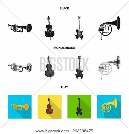 Isolated Object Of Music And Tune Logo. Collection Of Music And Tool Vector Icon For Stock.