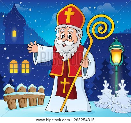 Saint Nicholas Topic Image 2 - Eps10 Vector Picture Illustration.