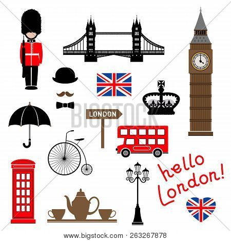 London City. Collection Of Themed Vector Clip-art. Eps 10