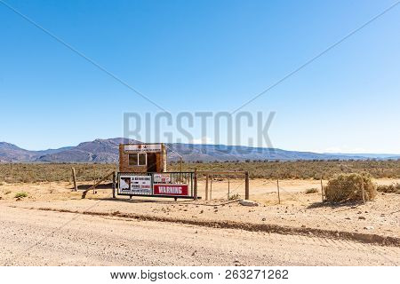 Ceres, South Africa, August 8, 2018: Entrance Of The Inverdoorn Game Reserve On Road R356 To Ceres I