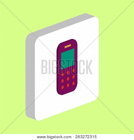 Mobile Phone Simple Vector Icon. Illustration Symbol Design Template For Web Mobile Ui Element. Perf