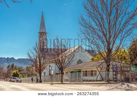 Ceres, South Africa, August 8, 2018: The Dutch Reformed Mother Church, In Ceres In The Western Cape