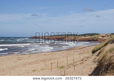 Cavendish Beach located in Cavendish National Park, Prince Edward Island, Canada.