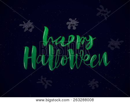 Happy Halloween Card Vector Photo Free Trial Bigstock