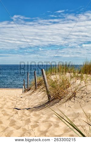 Dune At The Baltic Sea, Grass Sand Dune Beach Sea View
