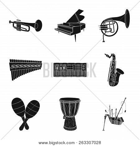Isolated Object Of Music And Tune Icon. Set Of Music And Tool Vector Icon For Stock.