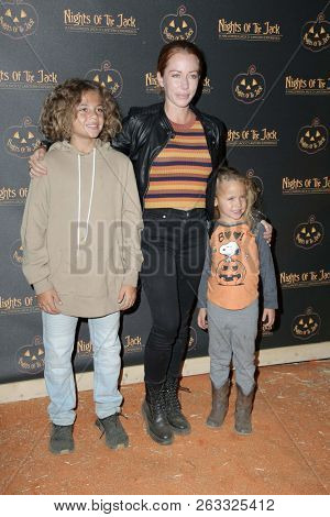 LOS ANGELES - OCT 10:  Kendra Wilkinson, Hank Baskett IV, Alijah Mary Baskett at the Nights Of The Jack Halloween Launch Party at the King Gillette Ranch on October 10, 2018 in Calabasas, CA