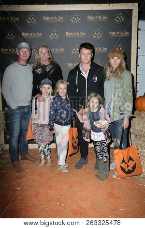LOS ANGELES - OCT 10:  Luke Hemsworth, guests at the Nights Of The Jack Halloween Activation Launch Party at the King Gillette Ranch on October 10, 2018 in Calabasas, CA