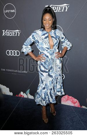 LOS ANGELES - OCT 12:  Tiffany Haddish at the Variety's Power Of Women: Los Angeles  at the Beverly Wilshire Hotel on October 12, 2018 in Beverly Hills, CA