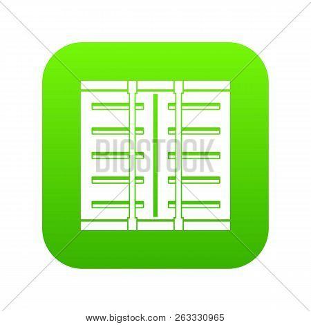 Jalousie Icon Digital Green For Any Design Isolated On White Vector Illustration