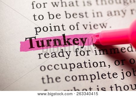 Fake Dictionary, Dictionary Definition Of The Word Turnkey.