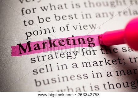 Fake Dictionary, Definition Of The Word Marketing.