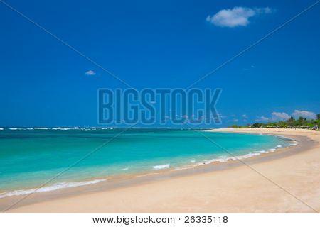 Beautiful ocean beach in summer
