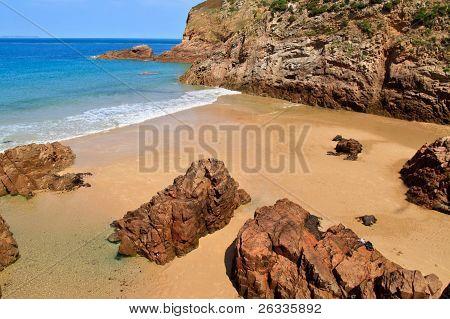 Plemont Beach, Jersey, Channel Islands, Uk