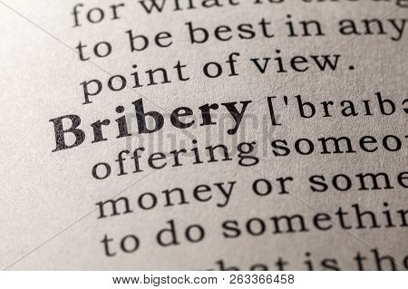 Fake Dictionary, Dictionary Definition Of The Word Bribery
