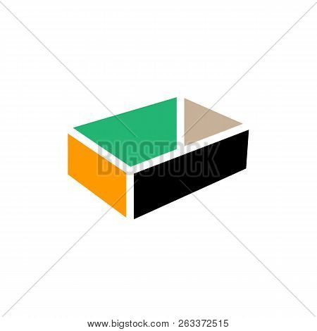 Creative Box Abstract Emblem, Design Concept, Logo, Logotype Element For Template