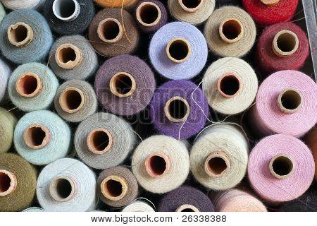 Multicolored Spools Of Thread
