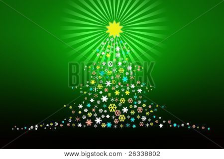 Stylized Christmas Tree Design Illustartion