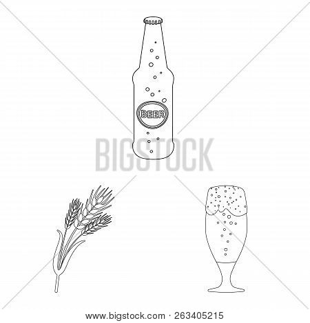 Vector Illustration Of Pub And Bar Symbol. Set Of Pub And Interior Stock Vector Illustration.