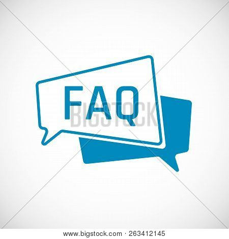 Faq. Frequently Asked Question As Speech Bubble Icon. Element Of Web Icon For Mobile Concept And Web