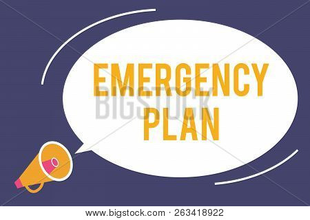 Word Writing Text Emergency Plan. Business Concept For Procedures For Response To Major Emergencies